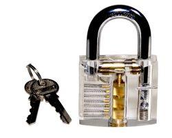 Lockpicking ?bungsschloss transparent