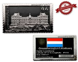 Geocacher's World Geocoin -LUXEMBOURG- Black / Silber XLE 75