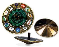 Cache Roulette Spinner Geocoin Antik Gold (Kreisel)