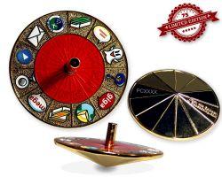Cache Roulette Spinner Geocoin Pol. Gold (Kreisel) XLE 75