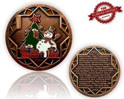 Weihnachten 2015 Geocoin Antik Kupfer LE 100