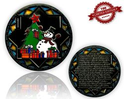 Christmas 2015 Geocoin Black Nickel LE 100