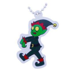 Zombie Elf Travel Tag