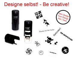 Geocaching Stamp with your Design - Printy Round 12 mm