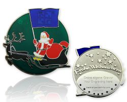Merry Christmas Santa Claus Geocoin Moss