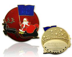 Merry Christmas Santa Claus Geocoin Love