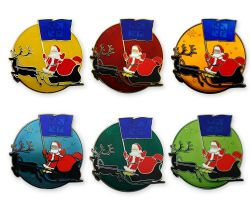 Merry Christmas Santa Claus Geocoin Set (6 Coins)