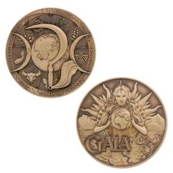 Greek Gods Geocoin - Gaia