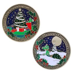 Season's Greetings Geocoin