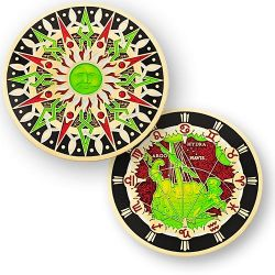 Compass Rose Geocoin 10th Anniversary - Puppis