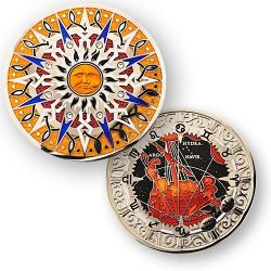 Compass Rose Geocoin 10th Anniversary - Pyxis
