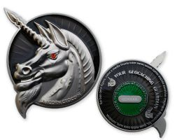 Unicorn Geocoin Special Silver Edition