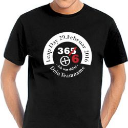 Geocaching T-Shirt | Leap Day 2016 round  (optional mit Teamname