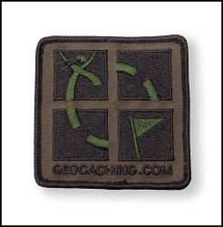 Camo Geocaching Patch 75 mm x 75 mm