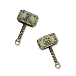 Mini Thor Hammer Geocoin Antik Bronze