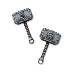 Mini Thor Hammer Geocoin Antik Silber