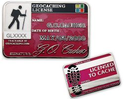 Geocaching License Geocoin - Decided (available with engraving)