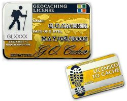 Geocaching License Geocoin - Energetic (available with engraving