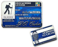 Geocaching License Geocoin - Precise (available with engraving
