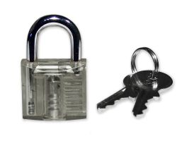 Mini Lockpicking training lock - transparent