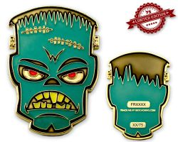 Frankenstein Geocoin - Shadow Glow XLE 75