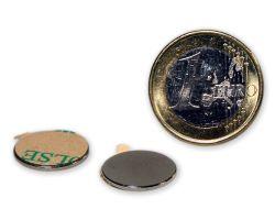 10 St?ck selbstklebende Scheibenmagnete ? 15,0 x 1,0 mm