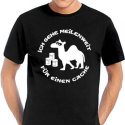 Geocaching T-Shirt | Ich gehe meilenweit - many colors