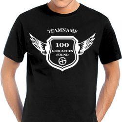 Geocaching T-Shirt | Award - in vielen Farben - Druck weiss