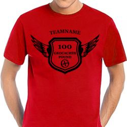 Geocaching T-Shirt | Award - in vielen Farben - Druck schwarz