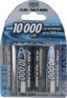 2er Blister Ansmann Mono D 10000mAh