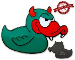 Devil-Duck Geocoin - Baphomet XLE 75