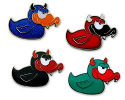 Devil-Duck Geocoin Sammler Set (4 Geocoins) - ident. Seriennummer