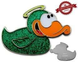 Angel-Duck Geocoin - Zacharel XLE 75