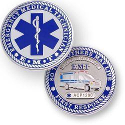 EMT (Rettungssanit?ter) Geocoin Poliertes Silber