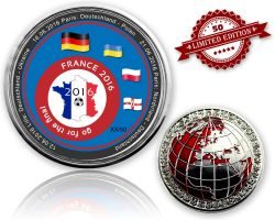 2016 EM Frankreich - Go For The Final Geocoin (XLE 50)