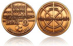 U-Boat Geocoin Antik Gold