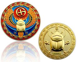 Skarab?us Geocoin Satin Gold
