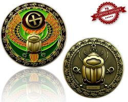 Skarab?us Geocoin Antik Gold XLE 75