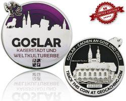 Goslar Geocoin Black Nickel / Silber - VIOLETT XLE 50
