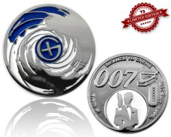 Licence to Cache II Geocoin - Skyfall XLE 75