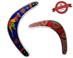 Boomerang Geocoin - Azur XLE 50