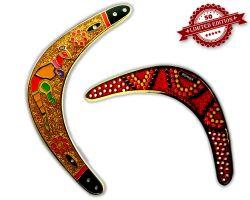 Boomerang Geocoin - Gold XLE 50