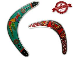 Boomerang Geocoin - Rainforest GLOW XLE 50