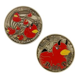 The Seven Deadly Ducks Geocoin