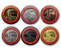 9-11 Remembrance Geocoin Sammler SET (6 COINS)