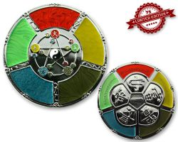 Feng Shui Geocoin Poliertes Silber XLE 75