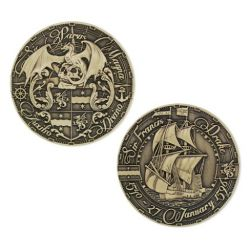 Pirate's Day Geocoin Antik Gold