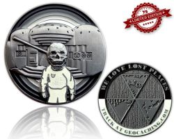 We Love Lost Places Geocoin Glowing Edition XLE 75