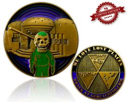 We Love Lost Places Geocoin Purple Edition XLE 75