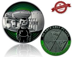 We Love Lost Places Geocoin Green Edition XLE 75